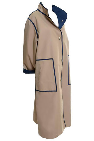 A/W 1999 Long Chanel Coat in Cream Brown & Blue Lesage Tweed