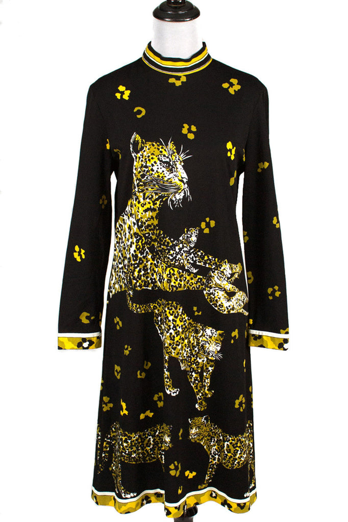 Vintage Emilio Borghese cheetah cat dress