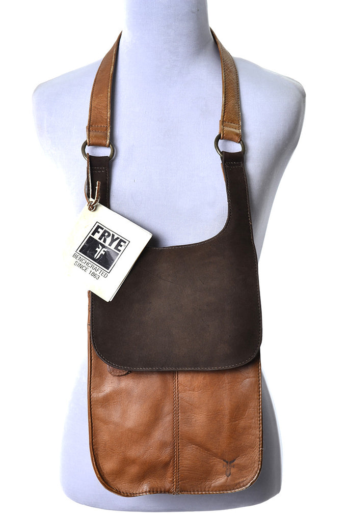 Frye Brown Leather and Suede New Vintage Bag Handbag