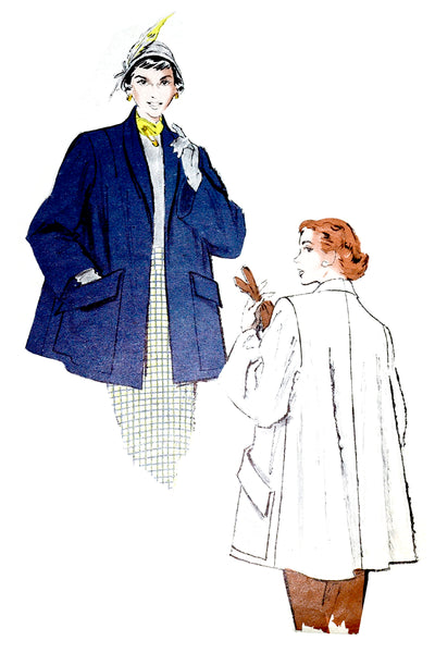 Butterick 5625 Vintage Swing Coat Pattern 1951