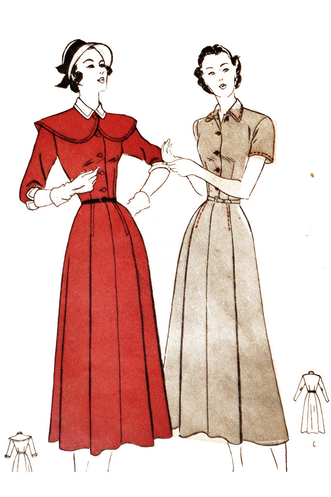 1940s unused Butterick 4597 vintage ladies dress pattern