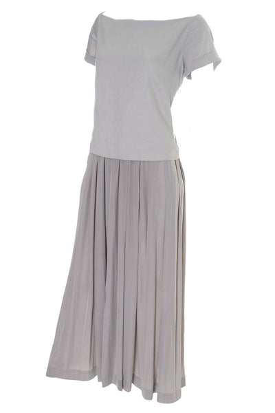 Cacharel Aeffe Spa Vintage Dress Neutral Beige Taupe Size 4 - Dressing Vintage