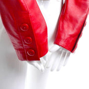 Michael Hoban vintage red leather jacket