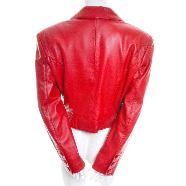 1980's Michael Hoban red leather jacket