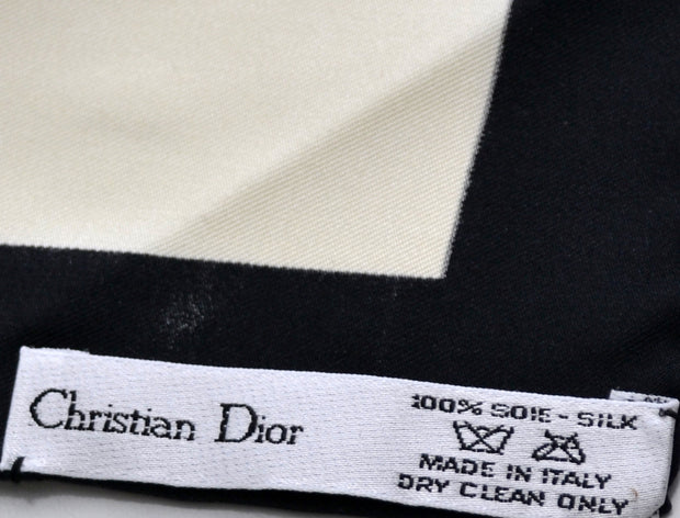 Christian Dior Silk Scarf Metropolitan Museum New in gift box Rare - Dressing Vintage