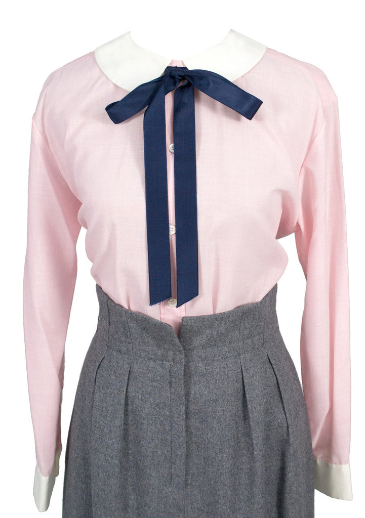 Vintage late 1960s Christian Dior pink blouse with tie SOLD
