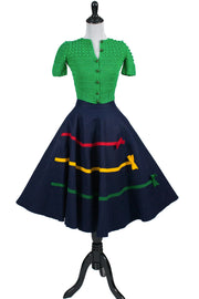 Original 1950s full circle children's vintage skirt - Dressing Vintage