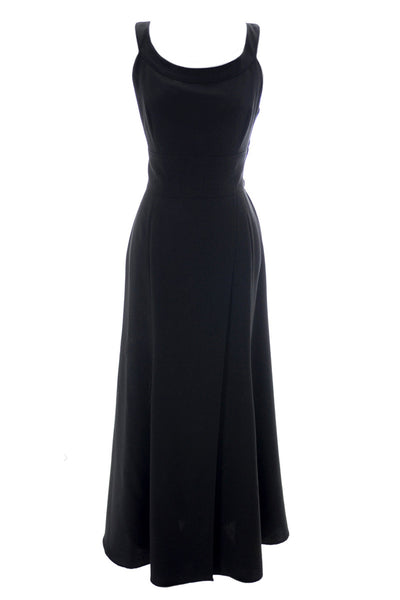Claude Montana Perfect Long Black Vintage Dress - Dressing Vintage