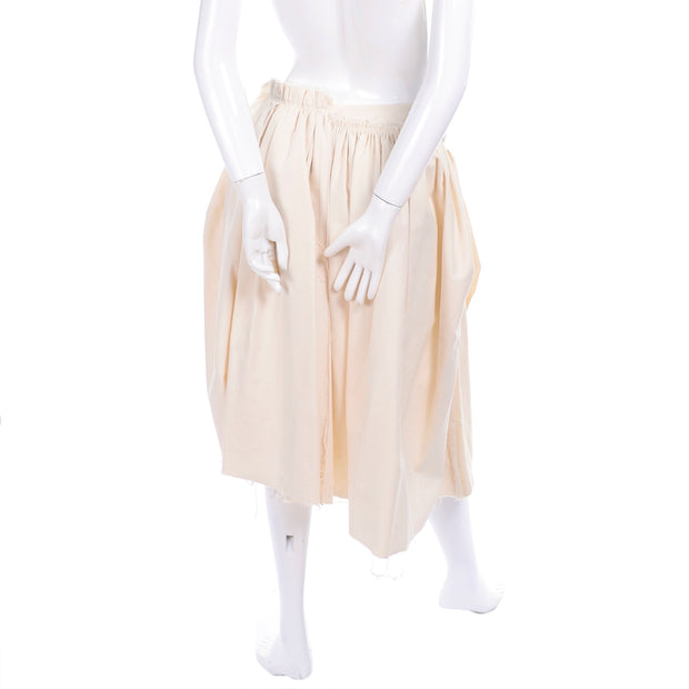 Cream velvet and muslin skirt by Comme des Garcons size small