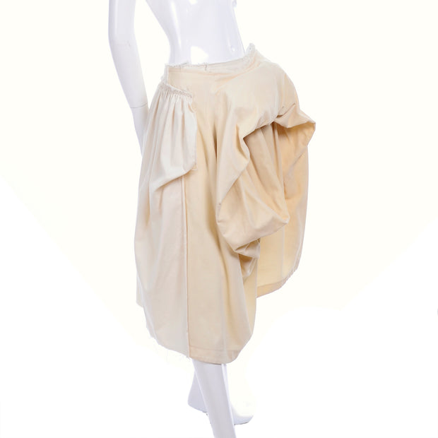 Comme des Garcons avant garde skirt with bustle and raw hem