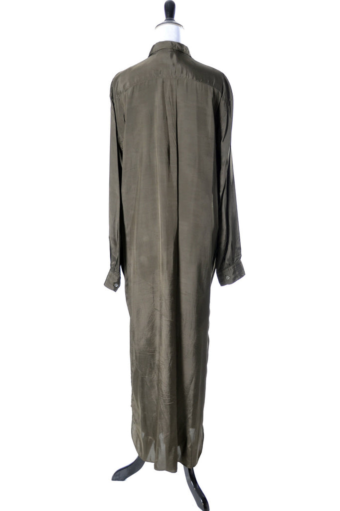 Comme Des Garcons Vintage Olive Green Maxi Dress - Dressing Vintage