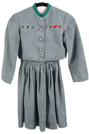 Rare vintage Countess Nemes Children's jumper dress and jacket - Dressing Vintage