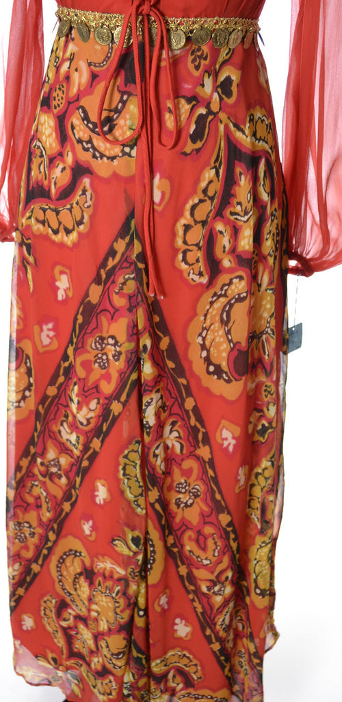 vintage maxi dress new with tags deadstock