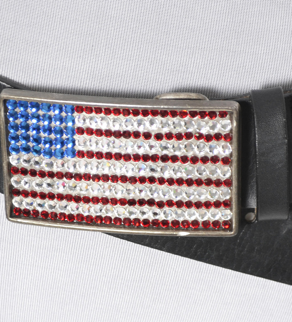 Vintage flag buckle belt neiman marcus deadstock