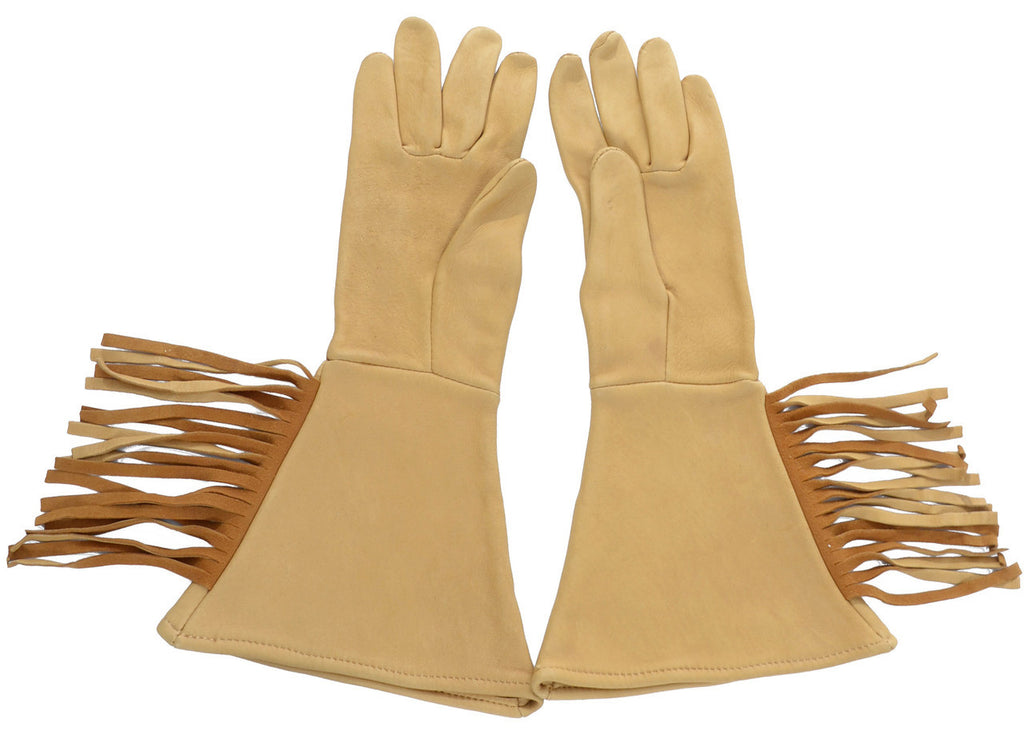 Deerskin vintage gloves motorcycle gloves fringe