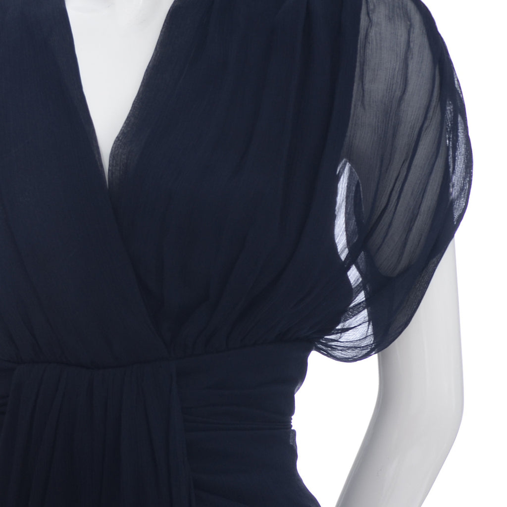 Navy blue Diane Von Furstenberg Silk Chiffon Dress