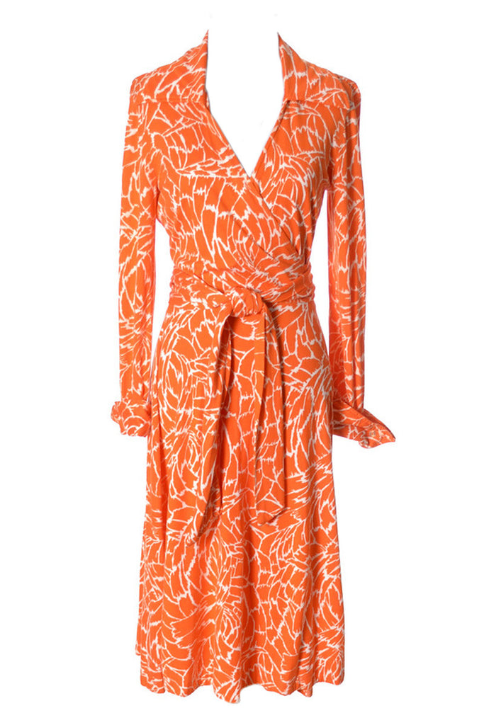 1970s Vintage Diane Von Furstenberg Wrap Dress Made In