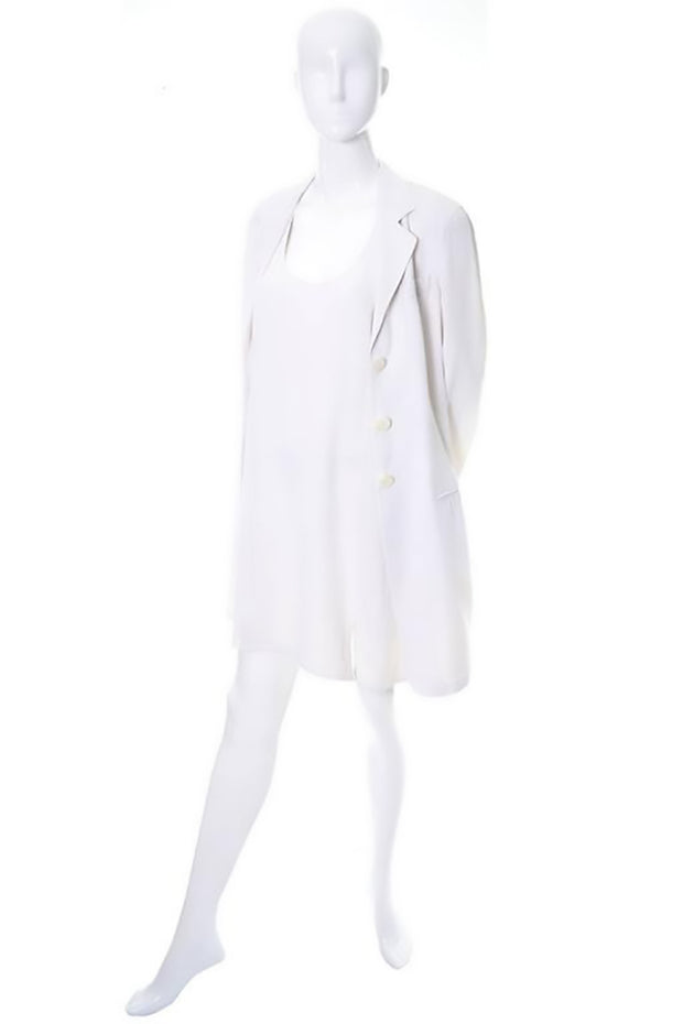 Donna Karan 1990's ivory jacket and racer back dress