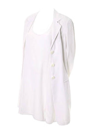 Donna Karan 1990's white shift dress and jacket