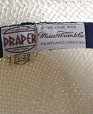 Draper Fifth Avenue straw vintage hat