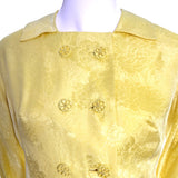 Yellow Silk Dynasty Vintage Hostess Gown Robe