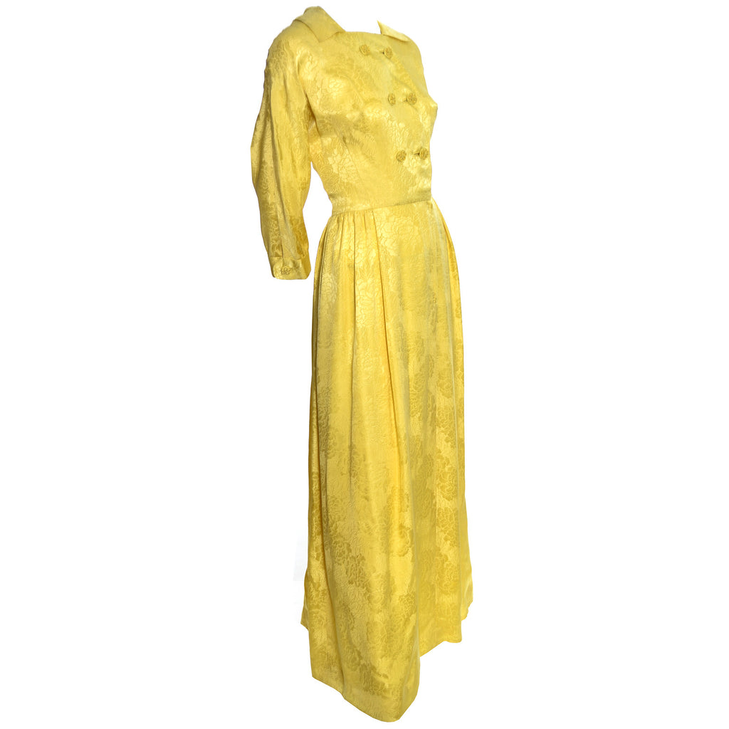 Chinese silk jacquard vintage hostess gown robe – Dressing Vintage
