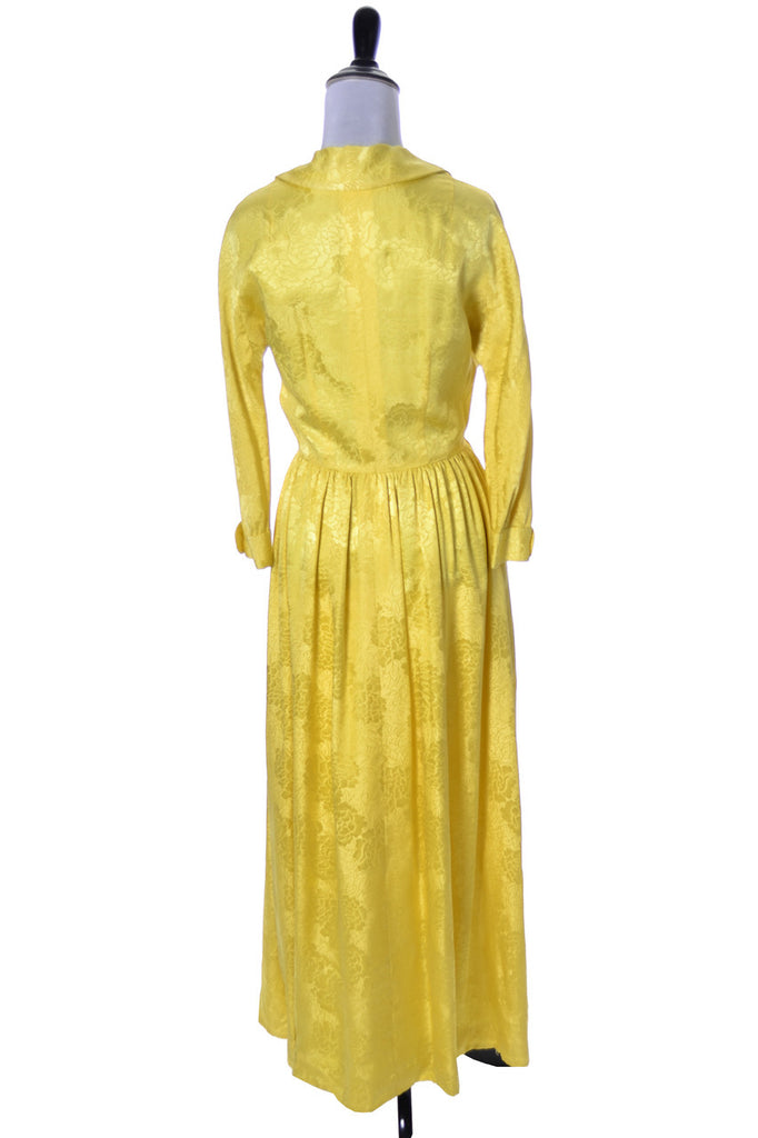 Dynasty Vintage Hostess Gown Robe Yellow