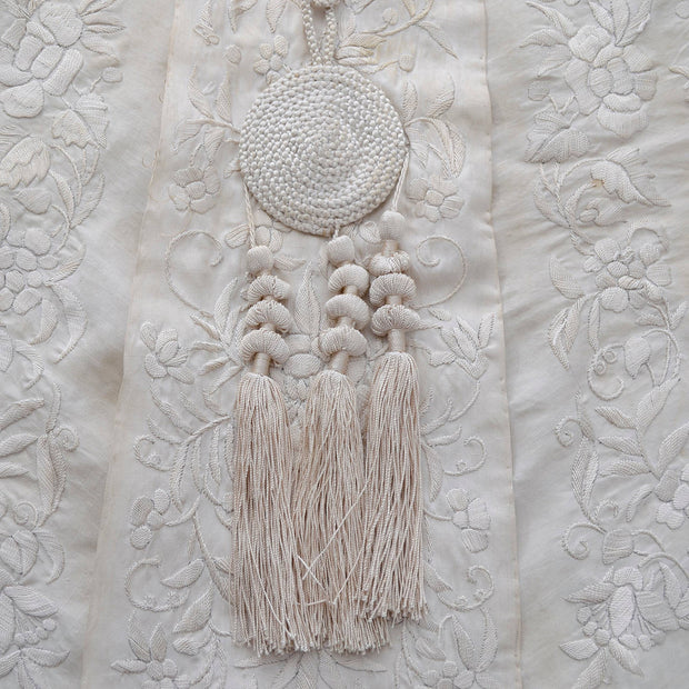 Edwardian ivory silk wrap