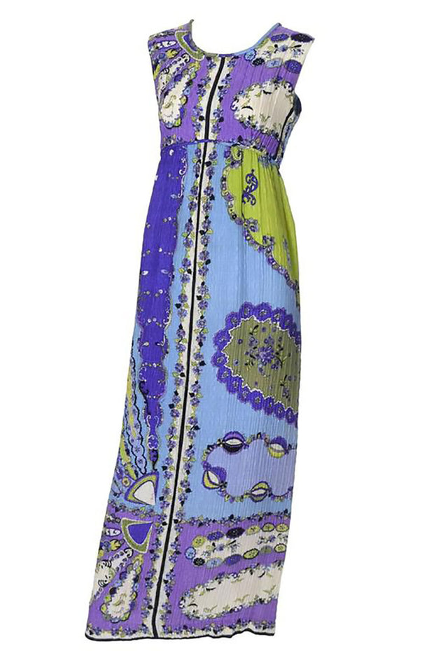 Emilio Pucci Pop Art Vintage Crinkle Silk Dress