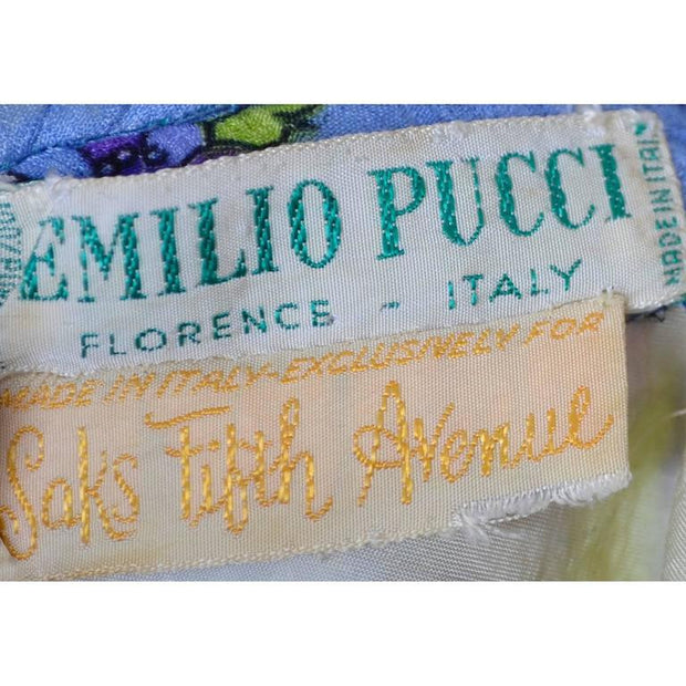Emilio Pucci 1960's label from Saks Fifth Avenue