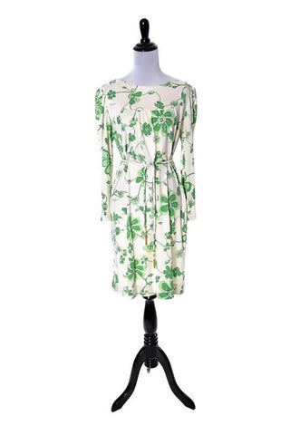 1960's Emilio Pucci Vintage Green Floral Dress