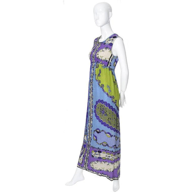 1960's Emilio Pucci Pop Art Vintage Crinkle Silk Dress size 4