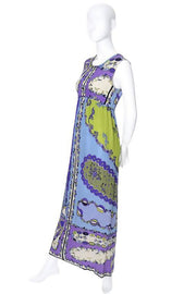 Emilio Pucci Pop Art Vintage Crinkle Silk Dress Size 4