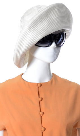 1960s Vintage White Floppy Hat from Emme Lord & Taylor - Dressing Vintage