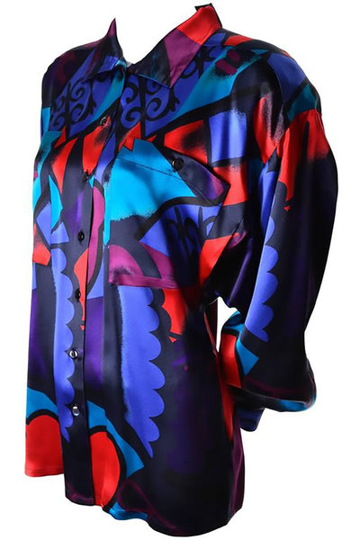 Abstract Silk Vintage Escada Blouse
