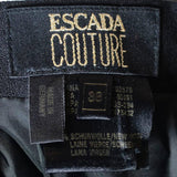 Escada Couture size 8 vintage skirt suit label