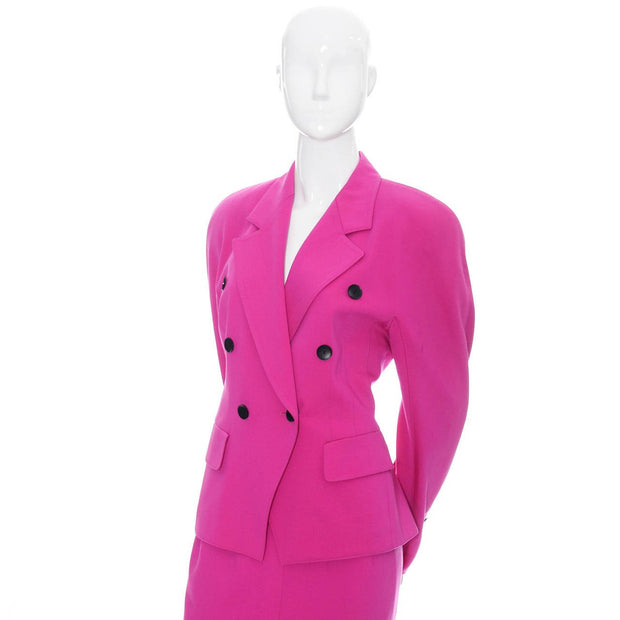 Escada double breasted pink vintage suit