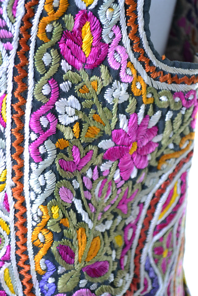 Ethnic embroidered Vintage Vest