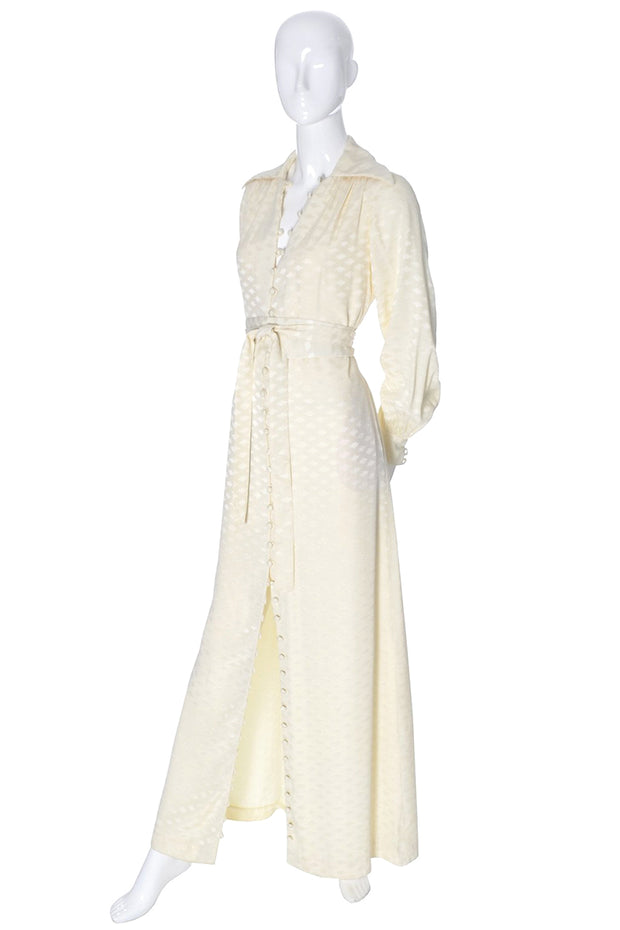 Eva Gabor Estevez Vintage Ivory Dress Long