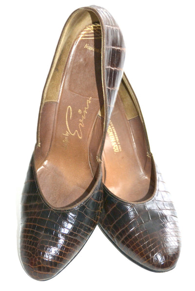 1940's Alligator Shoes Evins I Magnin 8B - Dressing Vintage