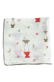 Faith Austin Vintage Handkerchief Lanterns Signed