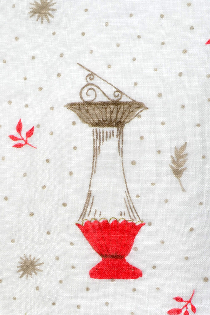 Faith Austin Vintage Handkerchief Lanterns Red Green