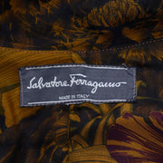 Salvatore Ferragamo Jungle Leaf Print Rain Swing Coat