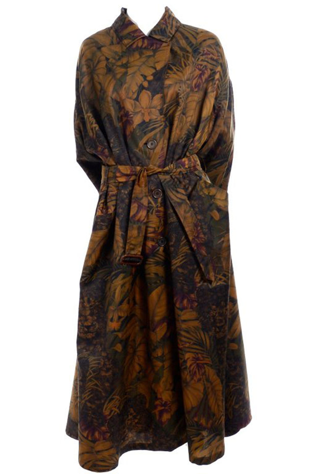 Jungle Print Ferragamo vintage swing coat