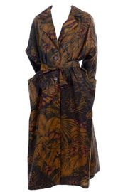 Salvatore Ferragamo Jungle Print Raincoat