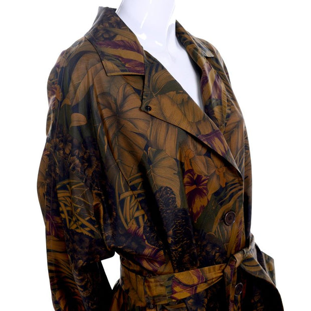 Ferragamo Women's Vintage Jungle Leaf Rain Coat