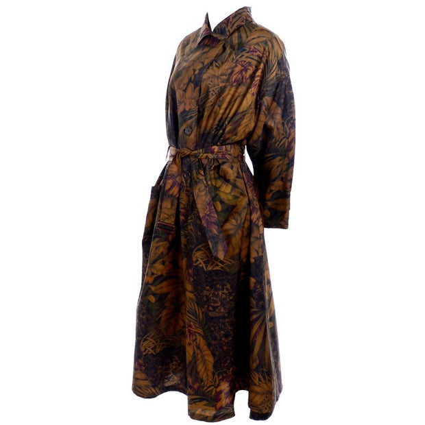 Ferragamo lightweight jungle print swing coat rain jacket
