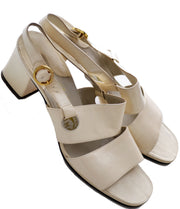 Late 1960s Ferragamo vintage leather sandals Size 8B - Dressing Vintage