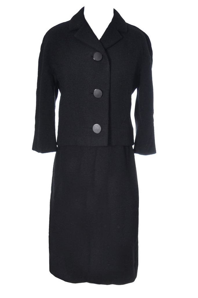 Frank Gallant vintage black skirt suit