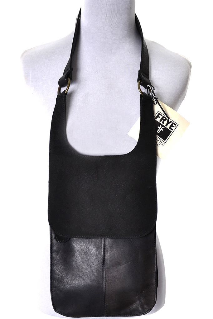 Frye New Tags Black Leather Vintage Shoulder Bag